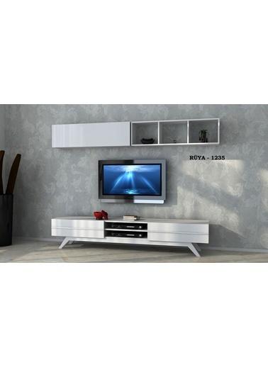 Sanal Mobilya Rüya 1235 Tv Ünitesi Beyaz Beyaz
